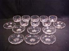 Lot of 16 Signed Thomas Webb crystal