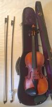 Estate Violin With Bow & Case