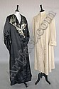 A black and blue satin evening coat circa 1910,