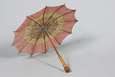 A rare Hermes parasol, 1920s, labelled to the