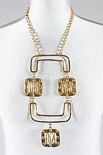 A Pierre Cardin gilt metal necklace, late