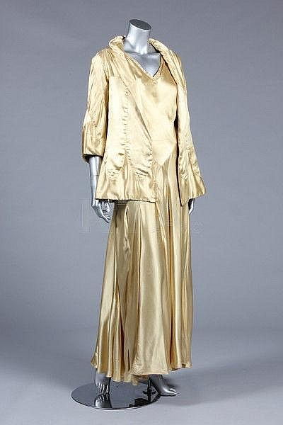 A fine and important Chanel couture gold satin