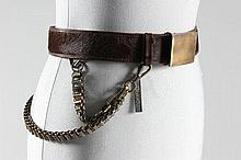 Two belts, comprising: brown hide Chanel example