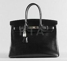 An Hermès black box calf leather Birkin, 1999,