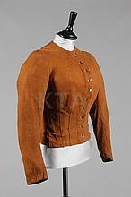 A rare chamois leather lady's riding jacket or