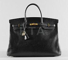 An Hermès black togo leather Birkin bag, 1996,