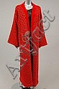 A Bill Gibb red and grey spotted maxi-coat, 1978,