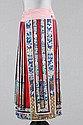 A Chinese embroidered skirt, early 20th century,