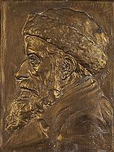 BORIS SCHATZ BRONZE RELIEF.