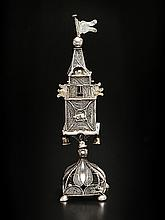 AUSTRO-HUNGARIAN SILVER FILIGREE SPICE TOWER.