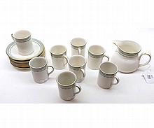 A quantity of Royal Doulton Berkshire Coffee Wares comprising: Milk Jug and eight Coffee Cups and Saucers