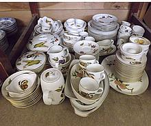 An extensive quantity of Royal Worcester Evesham pattern Table Wares to include Meat Plates, Vegetable Dishes, Serving Dishes, Bowls, Gravy Boat, Flan Dishes, Ramekin Dishes, Tea Wares, quantity of Bowls, Dinner and Side Plates