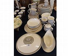 A good quantity of Royal Doulton Frost Pine Tableware, comprising covered Vegetable Dish, Teapots, Sugar Basin, Milk Jug, Water Jug, Sauce Boat and quantity of Bowls, Teacups, Saucers, Dinner and Side Plates