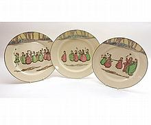 "A group of three Royal Doulton Springtime Plates, Pattern No 3119, 10"" diameter"