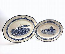 "Two Royal Doulton Norfolk pattern Meat Plates, largest 15 ½"" wide (2)"