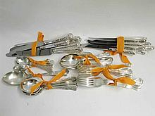 A collection of 20th Century Silver Plated Kings pattern Cutlery to include Table Knives, Forks, Dessert Knives and Forks, Teaspoons, Dessert Spoons and Serving Spoons, enough for eight place settings, Makers John Mason of Sheffield