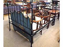 """A 19th Century Iron and Brass Bed Frame, 54"""" wide"""
