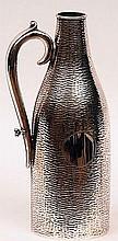 An unusual Aspreys of London Silver Plated Bottle