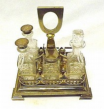 An early 20th Century Cruet Stand of rectangular