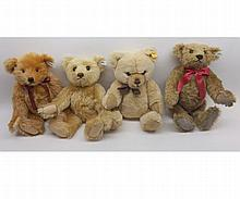 A box containing Steiff Collectors Teddy bears to include various Limited Editio