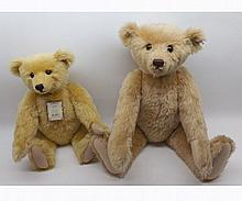 "A large golden mohair Steiff replica bear, 1989 Limited Edition, height 24"" toge"
