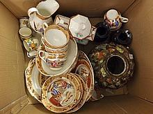 A Mixed Lot of various Ceramics to include Oriental Ginger Jar, Ironstone Tea Wa