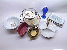 A Box of mixed ceramics to include part Royal Venton Tea Set to include two-tier