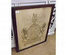 "Maudie, signed Pencil Sketch, depicting an Armorial Crest ""The United Kingdom of"