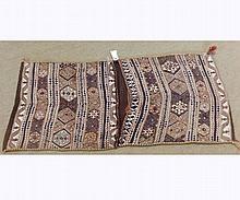 Caucasian Saddle Bag type carpet, decorated with parallel panels of lozenges and