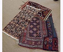 A collection of seven various Kilim type/Caucasian Prayer Rugs, the largest 3' 5