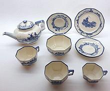 A Royal Doulton Norfolk Pattern Tea Set, comprising Teapot, Sugar Basin and