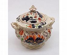 19th Century Staffordshire double handled Sugar Basin decorated with stylis