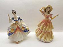 A Royal Doulton Figurine, Christine, HN2792 and Royal Doulton Figure, Susan