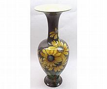 Doulton Lambeth flared rim baluster Vase decorated with spray of flowers on