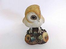 """A Royal Crown Derby Model of a Barn Owl, 5 ½"""" high"""