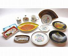 A Mixed Lot of Poole Pottery Wares to include Aegean pattern Dishes, Plates