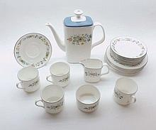 A quantity of Royal Doulton Pastoral Coffee Wares comprising: Coffee Pot, M