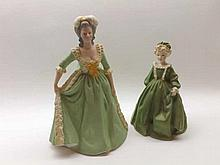 A Mixed Lot comprising: a Royal Worcester Figurine, Grandmother's Dress; to