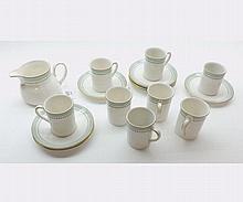 A quantity of Royal Doulton Berkshire Coffee Wares comprising: Milk Jug and