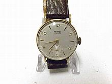 "A third quarter of the 20th Century 9ct Gold Wristwatch, Virtex ""Revue"", th"
