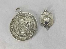 Mixed lot comprising a Silver City of Peterborough Fire Brigade Commemorati