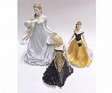 Three Royal Worcester Figures: Hayley, Maura, With