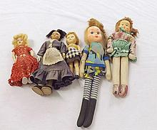 A collection of mostly mid-20th Century Dolls