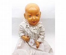 Mid-20th Century French celluloid boy doll, height