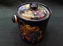 Royal Stanleyware Biscuit Barrel decorated with fl