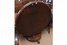 William IV period circular tilt top Dining Table w