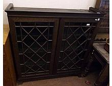 Late 19th/early 20th Century Oak Bookcase, two ast