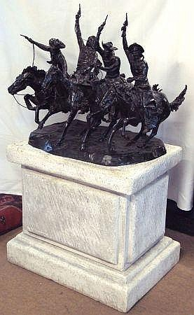 After Frederic Remington. Whittaker Western Bronze