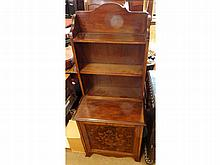 A decorative Mahogany Small Side Cabinet with ope