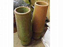 A near pair of Earthenware Chimney Pots of conica